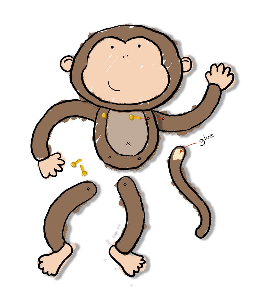 Monkey Body Template Cheeky monkey